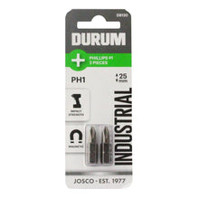 Load image into Gallery viewer, DURUM – Phillips Screwdriver Bit PH1 2PC 25mm - DB120