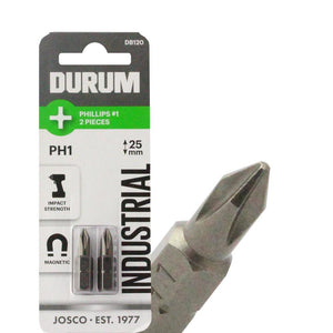 DURUM – Phillips Screwdriver Bit PH1 2PC 25mm - DB120