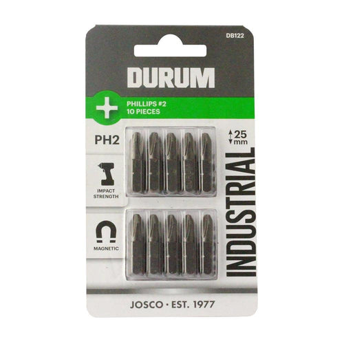 DURUM – Phillips Screwdriver Bit PH2 10PC 25mm - DB122