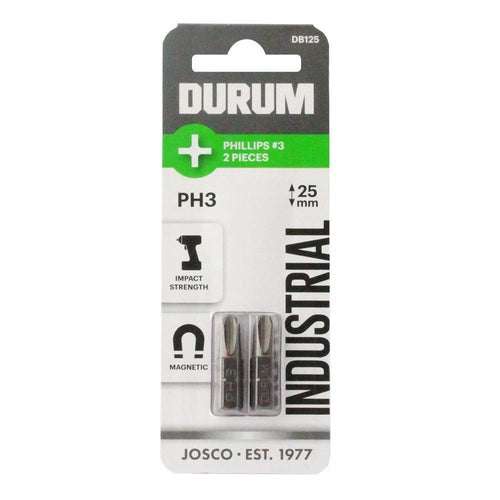 DURUM – Phillips Screwdriver Bits PH3 2 Pieces 25mm - DB125