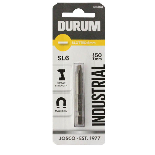 DURUM – Slotted Screwdriver Bit SL6 50mm - DB303