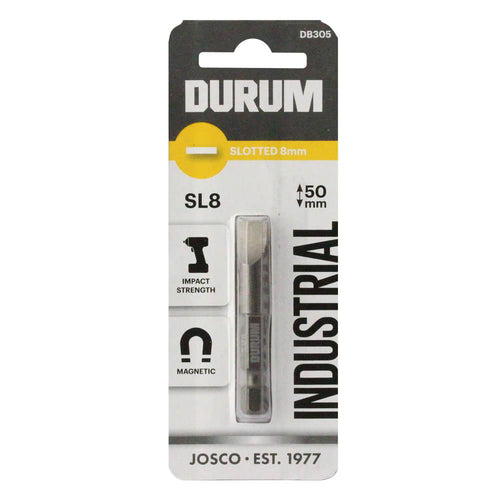 DURUM – Slotted Screwdriver Bit - SL8 50mm - DB305
