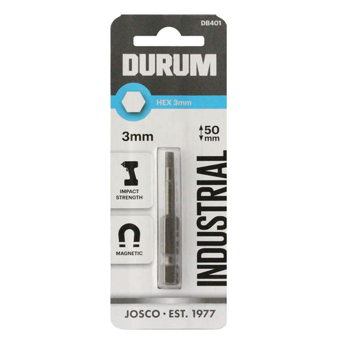DURUM – HEX Screwdriver Bit 3mm 50mm - DB401