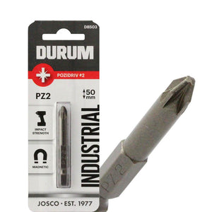 DURUM –  Pack of 5 Pozidriv Screwdriver Bits - PZ2 50mm - DB503B