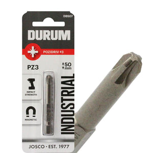DURUM – Pack of 5 Pozidriv Screwdriver Bits - PZ3 50mm - DB507B