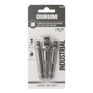 DURUM 3 Piece Socket Adaptor Kit - DB820