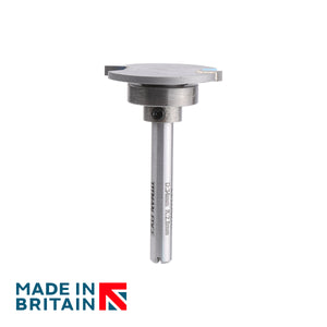 "Weatherseal Groover - Diameter 34mm - Depth of cut 2.8mm - Bearing 20mm - 1/4"" Shank - Titman Edge"
