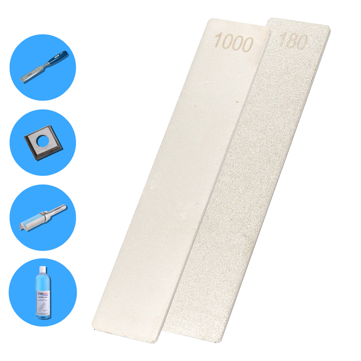 "Diamond Extreme Pocket Stone File - 5"" x 1"" (125mm x 25mm) - 180 and 1000 Grit - EPSEXT"