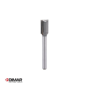 "Straight Two Flute Cutter - 12mm Diameter x 19mm Depth of Cut - 1/4"" Shank - DIMAR"