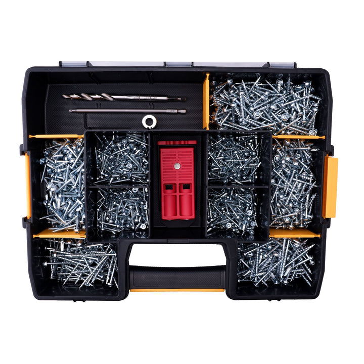 Pocket Hole Jig & 1,150 Assorted Pocket Hole Screws in a SortMaster Case - ULTIMATE STARTER BUNDLE
