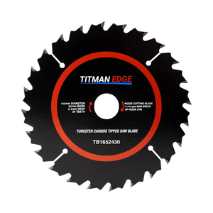 Titman Edge TCT Medium Finish Circular Saw Blade 165mm x 30mm x 24 Tooth - TB1652430