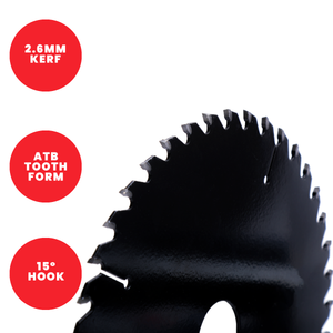 Titman Edge TCT Medium Finish Circular Saw Blade 184mm x 16mm x 24 Tooth - TB1842416
