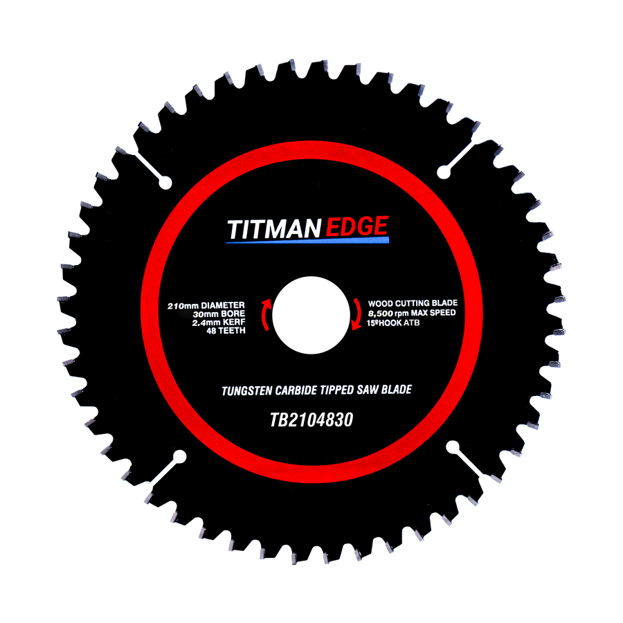 Titman Edge TCT Saw Blade 210mm x 30mm x 48 Tooth - TB2104830