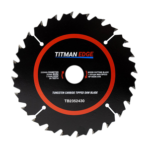 Titman Edge TCT Medium Finish Saw Blade 235mm x 30mm x 24 Tooth - TB2352430