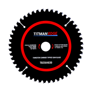 Titman Edge TCT Fine Finish Crosscutting Saw Blade 250mm x 30mm x 48 tooth - TB2504830