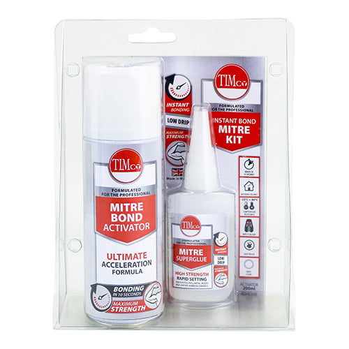 200ml / 50g Instant Bond Mitre Kit