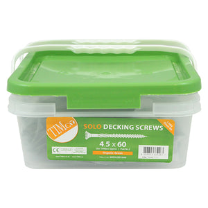 Solo Decking Screws - 4.5mm Thread - PZ2 - Double Countersunk - Exterior - Green