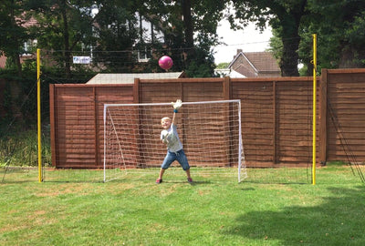 Junior - 8'x 4.5' Goal, in 8' high Backstop/ Rebounder
