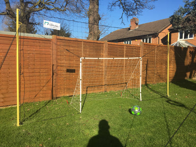 "Starter - 6'x 4' Goal, in 6'7"" high Backstop/ Rebounder"