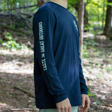Load image into Gallery viewer, Lake Of Bays Long Sleeve Shirt - Navy