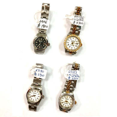 Rolex Ladies 6406 69173G 67180 Watches