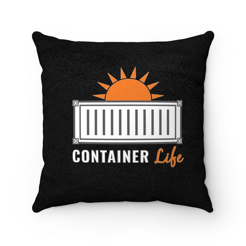 CONTAINER Life Faux Suede Square Pillow 1