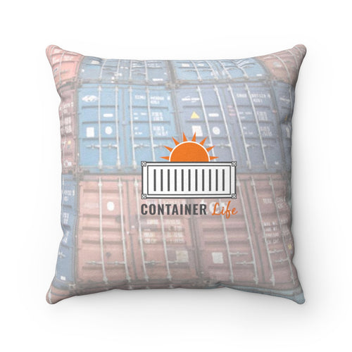 CONTAINER Life Faux Suede Square Pillow 2