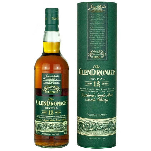 GlenDronach 15 Years Revival Scotch Whisky 700mL - Uptown Liquor
