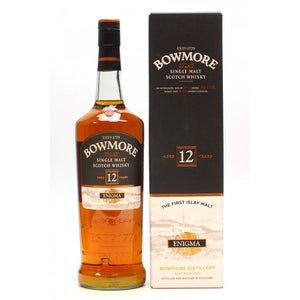"Bowmore 12 Year Old ""Enigma"" 1L - Uptown Liquor"