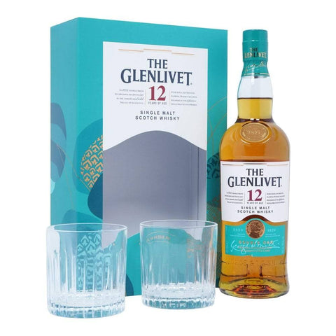 The Glenlivet 12 With 2 Glasses Gift Pack Scotch Whisky 700mL - Uptown Liquor