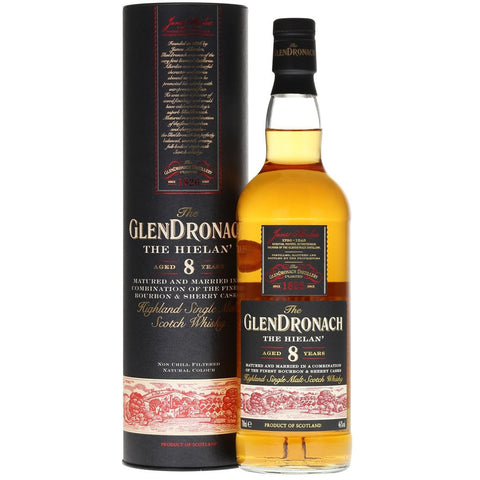 GlenDronach 8 Years Hielan Single Malt Scotch Whisky 700mL - Uptown Liquor