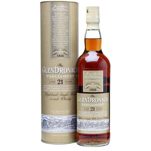 GlenDronach 21 Years Parliament Scotch Whisky 700mL - Uptown Liquor