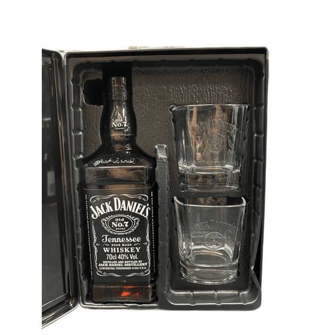 Jack Daniel's Tin with 2 Glass Gift Pack 700mL - Uptown Liquor