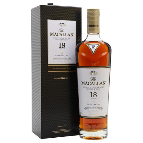 The Macallan 18 Years Sherry Oak Scotch Whisky 700mL
