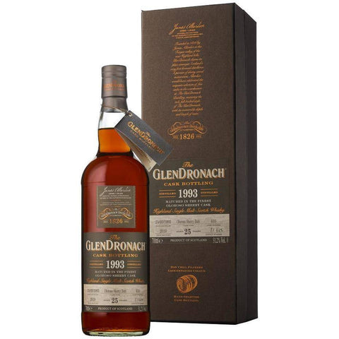 Glendronach Single Cask 25yr 1993 Cask No. 416 Batch 17 700mL