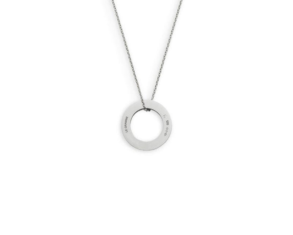 ROUND NECKLACE LE 1,1G SILVER 925 SLICK BRUSHED