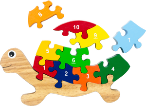 turtle numbers puzzle for preschool