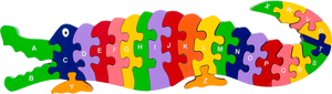 Colorful crocodile alphabet puzzle