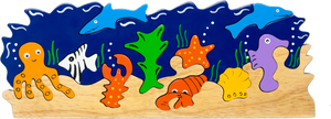 chunky wooden puzzles for toddlers aquarium