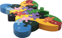 Load image into Gallery viewer, butterfly preschool wooden puzzle