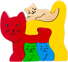 Load image into Gallery viewer, cat wooden puzzles for baby