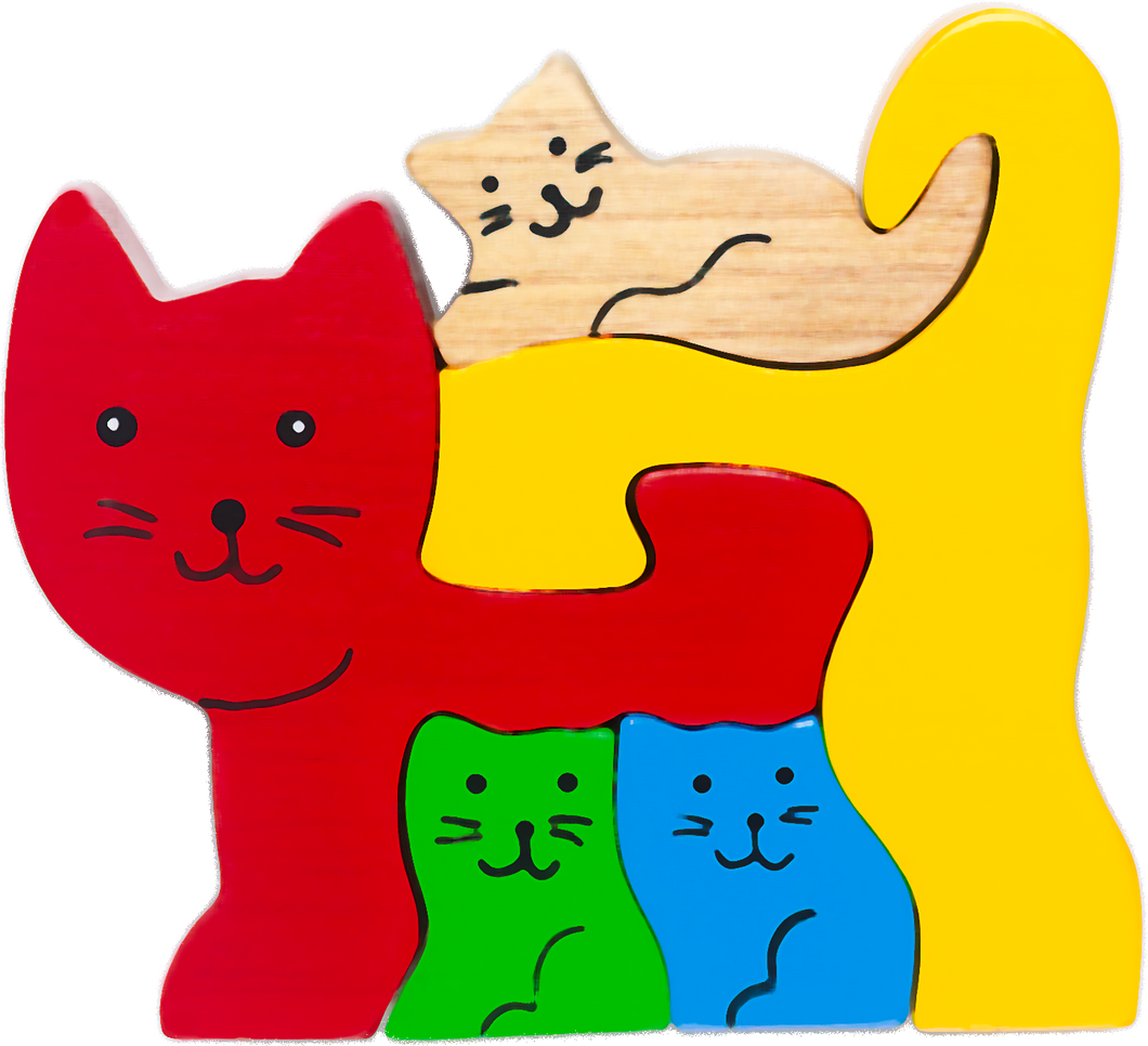 cat wooden puzzles for baby