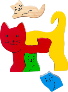 cat wooden puzzles for 18 month old