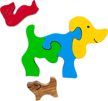 Load image into Gallery viewer, wooden baby puzzle toys dog