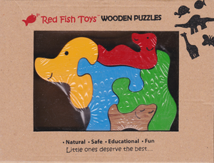 chunky wooden puzzles dog