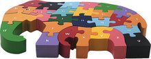 Load image into Gallery viewer, elephant abc puzzle wooden