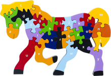 Load image into Gallery viewer, 3d horse puzzle alphabet