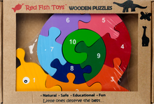 Load image into Gallery viewer, snail wood puzzle for 1 year olds