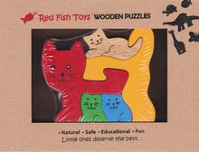 Load image into Gallery viewer, cat wooden puzzle