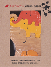 Load image into Gallery viewer, elephant wooden jigsaw for 2 year olds